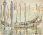 Albert H. Robinson, Venice, 1909, mixed media on paper, 23 x 28 cm. Gift of Donna and William Klopp, 1984.
