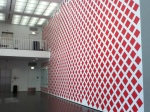 Martin Creed's painted wall at the Museum of Contemporary Art Chicago.