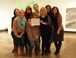 Gallery staff smiling for ART!