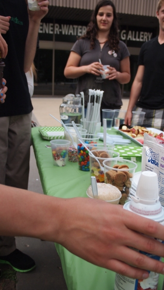 Delicious treats, including fixings for root beer floats.
