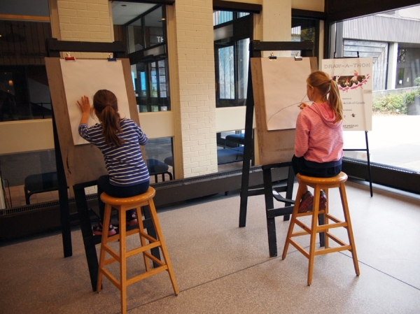 The easels were also very popular.